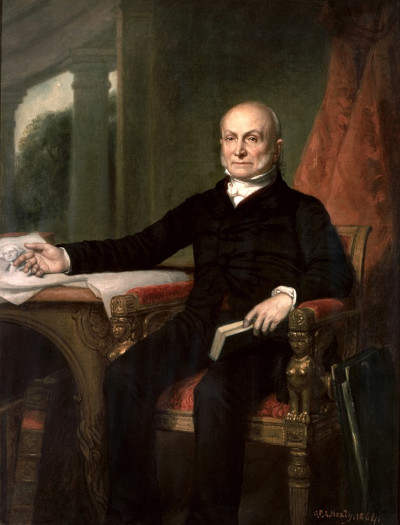 Painting of John Quincy Adams.