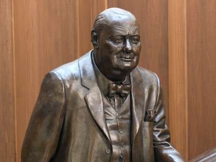 Statue of Winston Churchill.