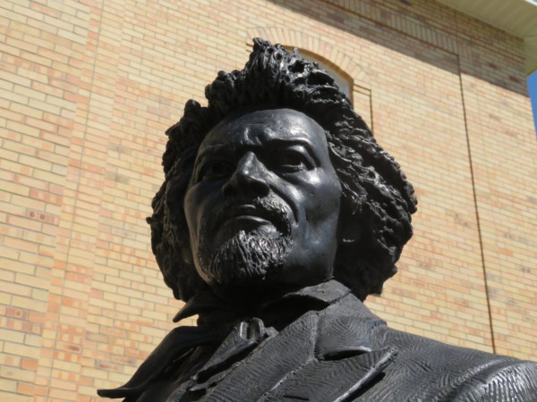 Statue of Frederick Douglass.
