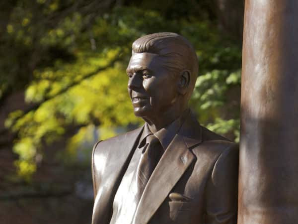 Statue of Ronald Reagan.